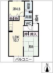 ディアスクレストリア[2階]の間取り
