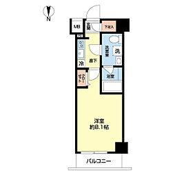 東武東上線 北池袋駅 徒歩8分の賃貸マンション 2階1Kの間取り