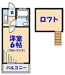 千葉県市川市富浜3の賃貸アパートの間取り