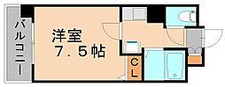 ピュアドームプレシオ博多[7階]の間取り