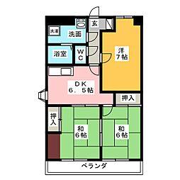 シティハイム田町[6階]の間取り