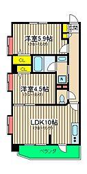 エルミタージュ横浜ベイ[1階]の間取り