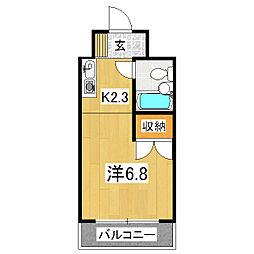 プルーリオン竹鼻[4階]の間取り