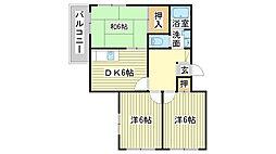 兵庫県姫路市網干区垣内本町の賃貸マンションの間取り