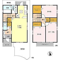 ラフィーネ林B棟[1階]の間取り