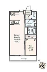 (仮称)都筑区池辺町アパート[2階]の間取り