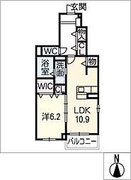 アンハイム[1階]の間取り