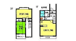 [テラスハウス] 千葉県流山市向小金3丁目 の賃貸【千葉県/流山市】の間取り