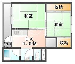 ビレッジハウス小坂2[1階]の間取り