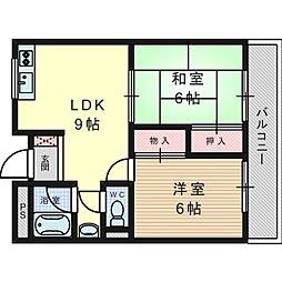 松原ハイツマキ[2階]の間取り