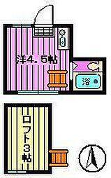 ミゼットハウス[202号室]の間取り