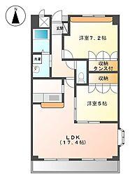 (東建)ピュアライブII[5階]の間取り