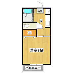 ル・ヴェール94[2階]の間取り