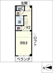 ソレアードM[1階]の間取り