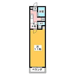エルミタージュ I[4階]の間取り