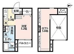兵庫県尼崎市御園3丁目の賃貸アパートの間取り