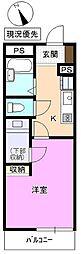 長野県上田市天神3丁目の賃貸アパートの間取り
