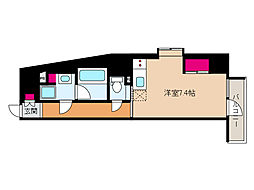 JR東海道・山陽本線 摩耶駅 徒歩9分の賃貸マンション 4階ワンルームの間取り