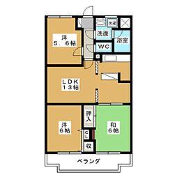 コンフォ・トゥールII[1階]の間取り