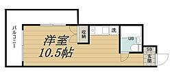 千葉県千葉市中央区中央3丁目の賃貸マンションの間取り