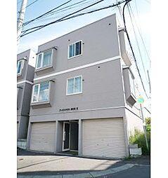 北海道札幌市中央区南8条西18丁目の賃貸アパートの外観