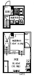 RadIAnce新松戸[203号室号室]の間取り
