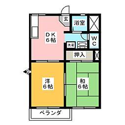 ハニータウン A[2階]の間取り
