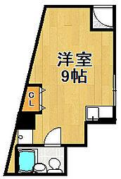 リバーヒル三軒家西[1階]の間取り
