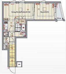 ビバリーホームズ北新宿[4階]の間取り