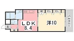 兵庫県姫路市久保町の賃貸マンションの間取り