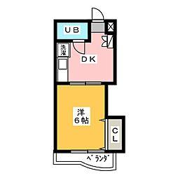 ベルモリー喜多山[2階]の間取り