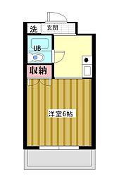 シンプルライフ桜口[3A号室]の間取り