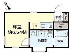 ASTILE下北沢III 4階ワンルームの間取り