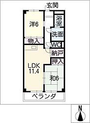 AZure[1階]の間取り