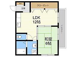 JR日豊本線 国分駅 徒歩35分の賃貸アパート 1階1LDKの間取り