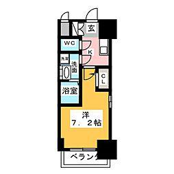 愛知県名古屋市千種区内山3丁目の賃貸マンションの間取り
