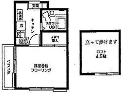 フラットゆりの木[2階]の間取り