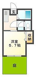 ローリエ霞ヶ丘[1階]の間取り