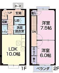 [テラスハウス] 静岡県浜松市浜北区染地台4丁目 の賃貸【/】の間取り