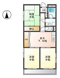 AvenueII[1階]の間取り