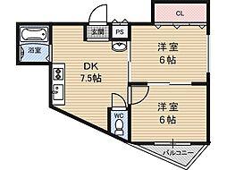 NCマンション[2階]の間取り