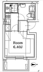 東京メトロ丸ノ内線 四谷三丁目駅 徒歩8分の賃貸マンション 5階1Kの間取り