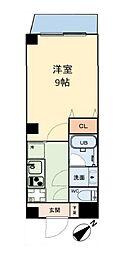 グリュックメゾン本田 5階1Kの間取り