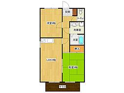 ハイツS&Kパート3[1階]の間取り