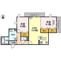 (仮)D-room南鳩ヶ谷2丁目[101号室]の間取り