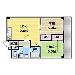 エルメゾン小阪[5階]の間取り