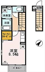 東京都西東京市保谷町2丁目の賃貸アパートの間取り