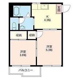 アパートメントハウス志木[2階]の間取り