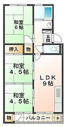 兵庫県神戸市垂水区福田2丁目の賃貸マンションの間取り