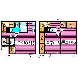[タウンハウス] 北海道札幌市北区西茨戸四条2丁目 の賃貸【北海道 / 札幌市北区】の間取り